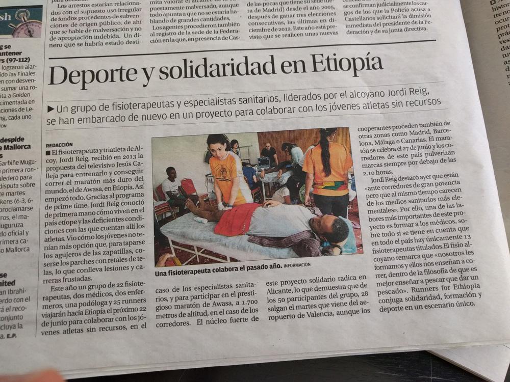 Deporte y solidaridad en Etiopia
