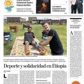 Deporte y solidaridad en Etiopia – Diario de Navarra