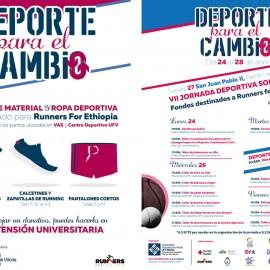 Semana de 'Deporte para el Cambio' UFV y recogida de material deportivo solidario