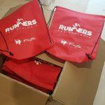 Donación de las gymbags 2019 para el transporte de la marca 'Fritta'